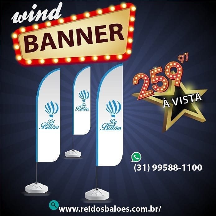 Wind banner promocional